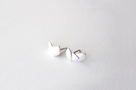 Three Leaves sterling silver earrings