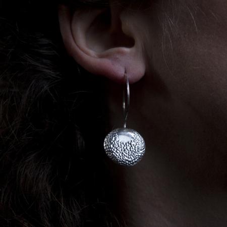 Sun & Moon sterling silver earrings