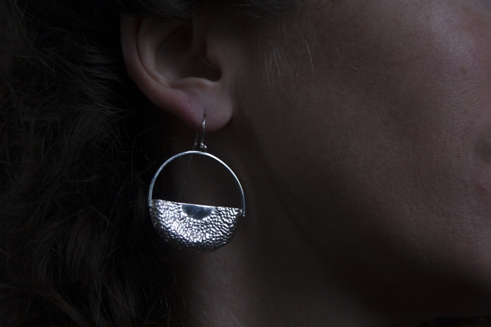Ra sterling silver earrings