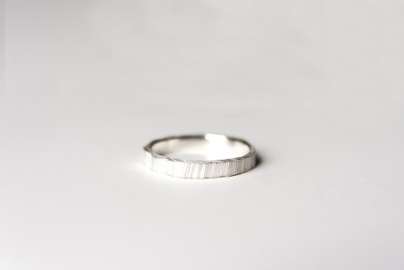 Sediments stacking sterling silver ring