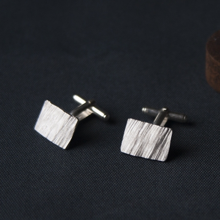 Sediments cufflinks sterling silver