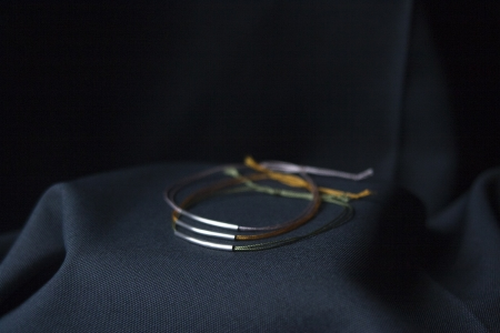 sterling silver and silk bracelet