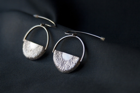 Ra sterling silver earrings
