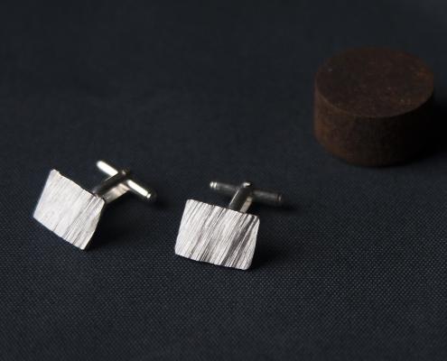 Sediments cufflinks sterling silver