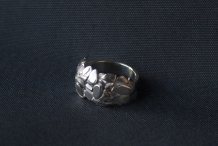 Forest sterling silver ring