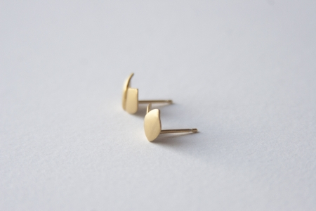 Petal earrings Gold