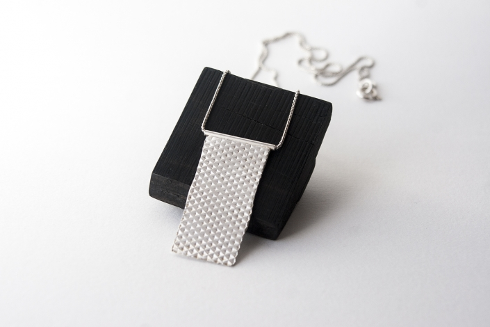 sterling silver carreau necklace