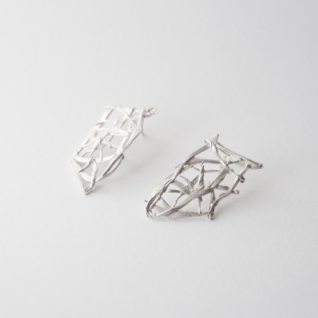 sterling silver bamboo earrings