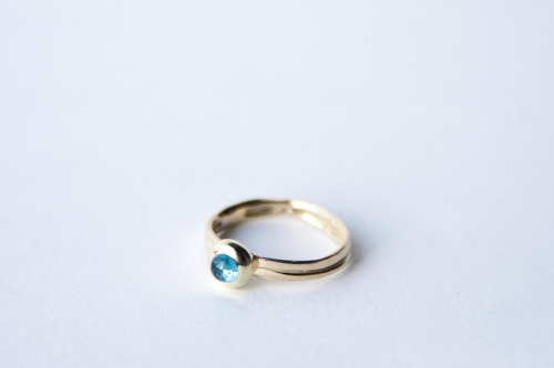 14K Gold Ring with Tourmaline
