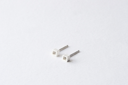 Tiny Cube Earrings