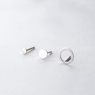 Two Dots & Circle Earrings
