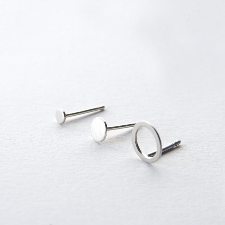 Two Dots & Circle Earrings