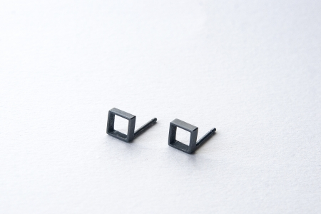 Cubes Oxidised Earrings
