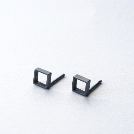 Cubes Oxidised Earrings