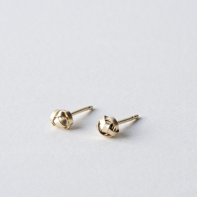 Gold Scribble Earrings