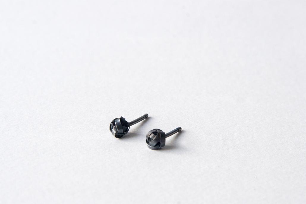 Oxidised Scribble Earrings