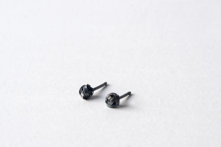 Oxidised Scribble Earrings
