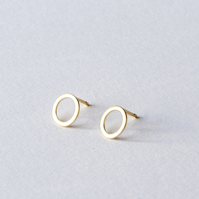Circle Gold Plated Earrings